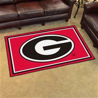 "Georgia Bulldogs 4x6 Area Rug 46""x72"""