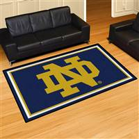 "Notre Dame Fighting Irish Mascot 5x8 Area Rug 60""x92"""