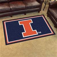 "Illinois Fighting Illini 4x6 Area Rug 46""x72"""