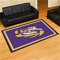 "Louisiana State LSU Tigers 5x8 Area Rug 60""x92"""