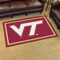 "Virginia Tech Hokies 4x6 Area Rug 46""x72"""