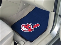 "Cleveland Indians 2-Piece Carpeted Car Mats 18""x27"""