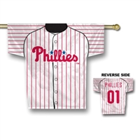 "Philadelphia Phillies Jersey Banner 34"" x 30"" - 2-Sided"