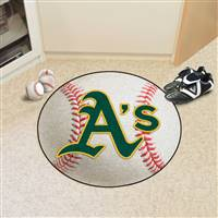 "Oakland Athletics Baseball Rug 29"" Diameter"