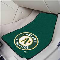 "Oakland Athletics 2-Piece Carpeted Car Mats 18""x27"""