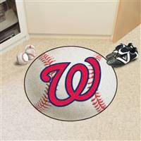 "Washington Nationals Baseball Rug 29"" Diameter"