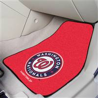 "Washington Nationals 2-Piece Carpeted Car Mats 18""x27"""