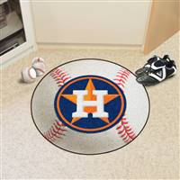 "Houston Astros Baseball Rug 29"" Diameter"