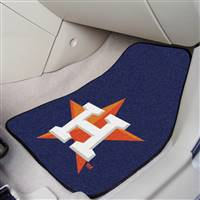 "Houston Astros 2-Piece Carpeted Car Mats 18""x27"""