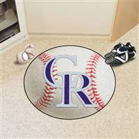 "Colorado Rockies Baseball Rug 29"" Diameter"