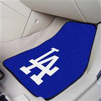 "Los Angeles Dodgers 2-Piece Carpeted Car Mats 18""x27"""