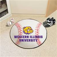 "Western Illinois Leathernecks Baseball Rug, 29"" Diameter"
