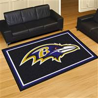 "Baltimore Ravens 5x8 Area Rug 60""x92"""