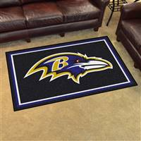 "Baltimore Ravens 4x6 Area Rug 46""x72"""