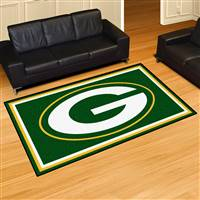 "Green Bay Packers 5x8 Area Rug 60""x92"""