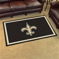 "New Orleans Saints 4x6 Area Rug 46""x72"""
