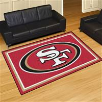 "San Francisco 49ers 5x8 Area Rug 60""x92"""