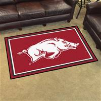 "Arkansas Razorbacks 4x6 Area Rug 46""x72"""