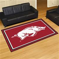 "Arkansas Razorbacks 5x8 Area Rug 60""x92"""