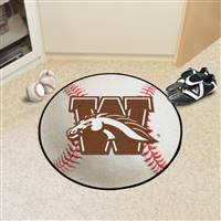 "Western Michigan Broncos Baseball Rug 29"" Diameter"