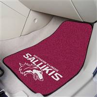 "Southern Illinois Salukis 2-piece Carpeted Car Mats 18""x27"""