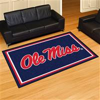"Mississippi Ole Miss Rebels 5x8 Area Rug 60""x92"""