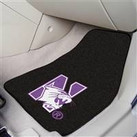 "Northwestern Wildcats 2-piece Carpeted Car Mats 18""x27"""