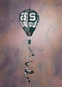 Michigan State Spartans Hot Air Balloon Spinner