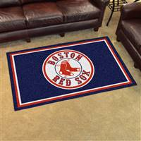 "Boston Red Sox 4x6 Area Rug 46""x72"""