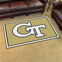 "Georgia Tech Yellow Jackets 4x6 Area Rug 46""x72"""