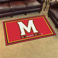 "Maryland Terrapins 4x6 Area Rug 46""x72"""