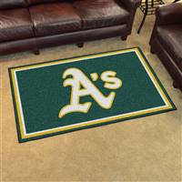 "Oakland Athletics 4x6 Area Rug 46""x72"""
