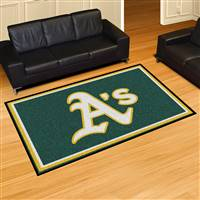 "Oakland Athletics 5x8 Area Rug 60""x92"""