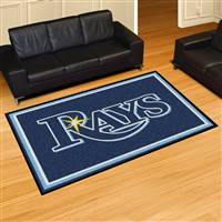 "Tampa Bay Rays 5x8 Area Rug 60""x92"""