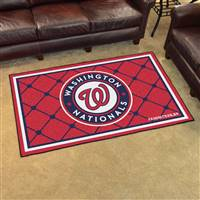 "Washington Nationals 4x6 Area Rug 46""x72"""