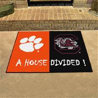 "Clemson Tigers / South CarolinaGamecocks House Divided Rug 34""x45"""