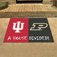 "Indiana Hoosiers - Purdue Boilermakers House Divided Rug 34""x45"""