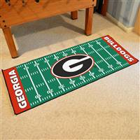 "Georgia Bulldogs Football Field Runner Mat 30""x72"""