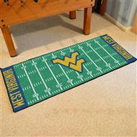 "West Virginia Mountaineers Football Field Runner Mat 30""x72"""