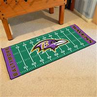 "Baltimore Ravens Runner Mat 30""x72"""
