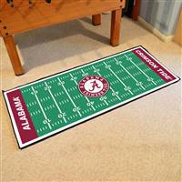 "Alabama Crimson Tide Football Field Runner Mat 30""x72"""