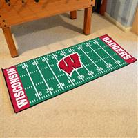 "Wisconsin Badgers Football Field Runner Mat 30""x72"""