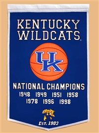 Kentucky Wildcats Large Dynasty Wool Banner