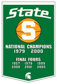Michigan State Spartans Large Dynasty Wool Banner