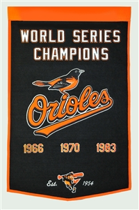 Baltimore Orioles Large Dynasty Wool Banner
