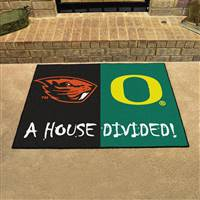"Oregon Ducks - Oregon State Beavers House Divided Rug 34""x45"""