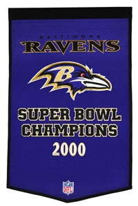 Baltimore Ravens Large Dynasty Wool Banner