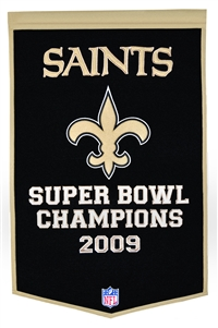 New Orleans Saints Large Dynasty Wool Banner