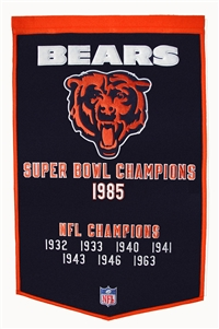 Chicago Bears Large Dynasty Wool Banner