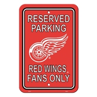 Detroit Red Wings Plastic Parking Sign